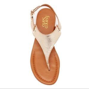 Franco Sarto Goldy Metallic Leather Sandals